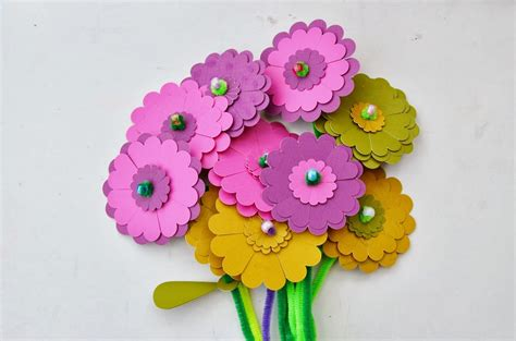 Paper And Craft - snugglebug paper flower craft kit