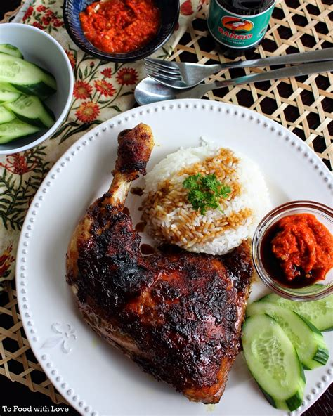 Oven Bakar to food with ayam bakar grilled chicken