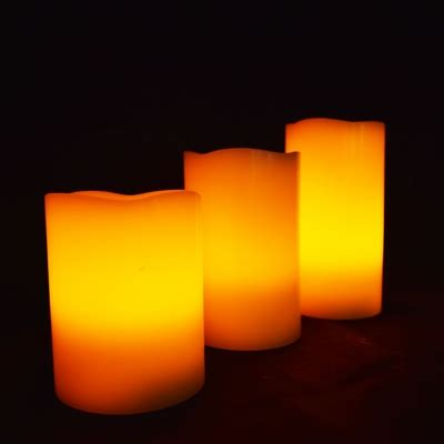 led lights for paper lanterns with remote realistic wax flameless led candle light w remote timer