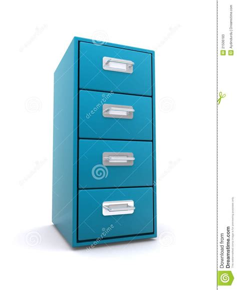 blue metal filing cabinet blue filing cabinet stock photos image 21506183