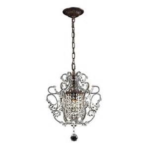 lowes mini chandelier westmore lighting 1 light rust chandelier pn5122