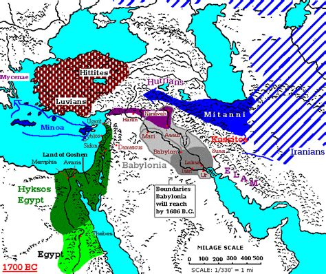 middle east map bc 1700 1600 bc