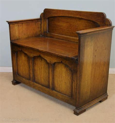 oak monks bench seat antique oak hall seat monks bench antiques atlas