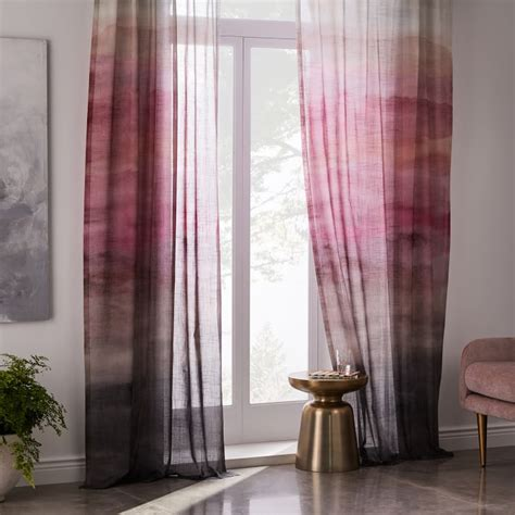 blush colored curtains blush curtains deaft west arch