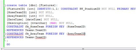 sql create table with foreign key sql server sql foreign key constraint stack overflow