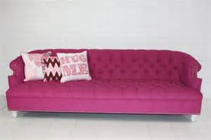 Pink Sectional Sofa Bel Air Pink Tufted Sofa Contemporary Sofas By Room Service