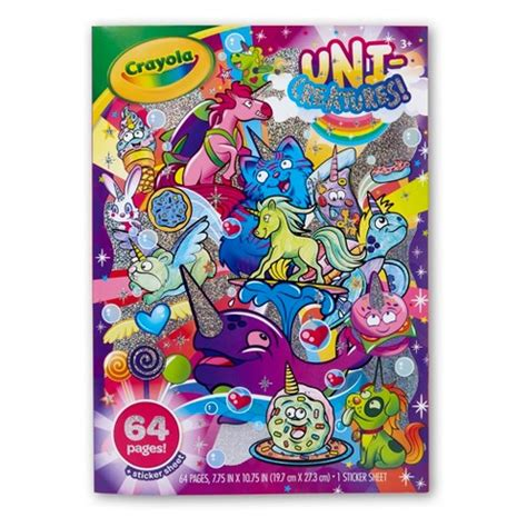 target coloring books uni creature coloring book crayola target