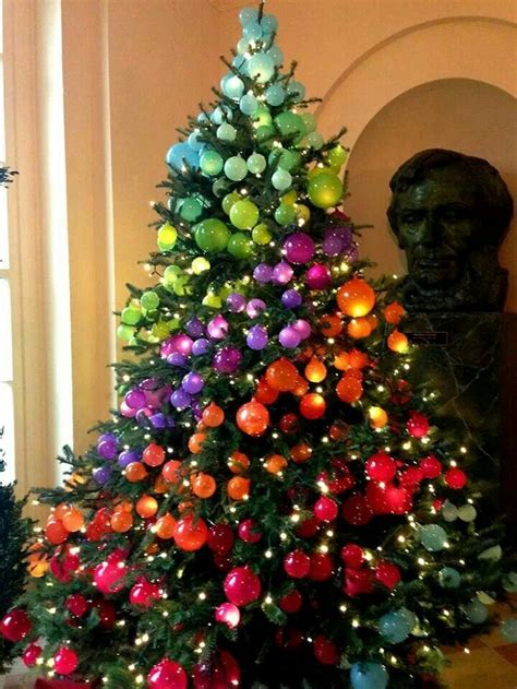 colorful  sweet christmas trees