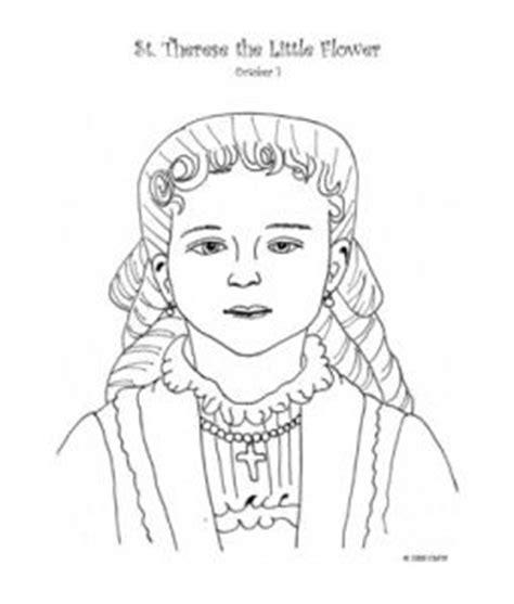 st therese of lisieux coloring page coloring pages