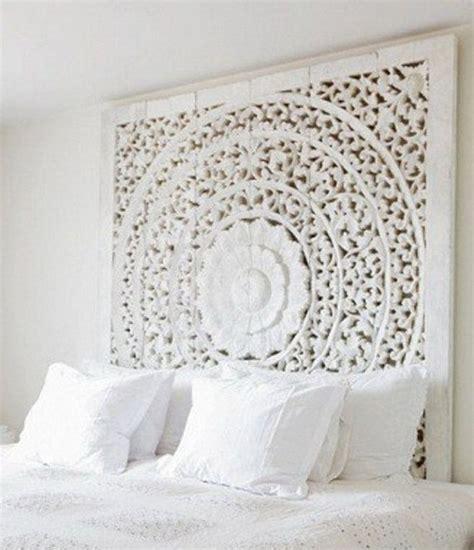 Kopfteil Geschnitzt by Carved Teak Wall Hanging Bed Headboard Unique White