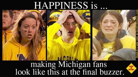 Michigan Fan Meme - snark e card michigan wolverines sport of history