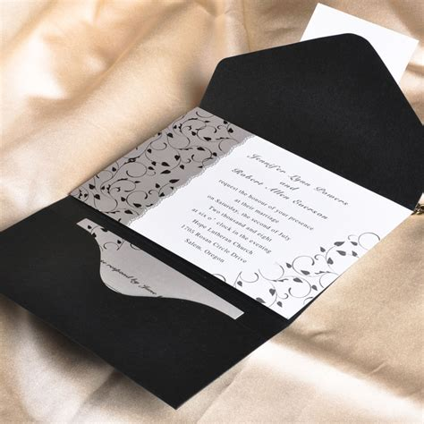 design invitations uk black and white pocket wedding invitations ukps014 ukps014 163 0 00 cheap wedding