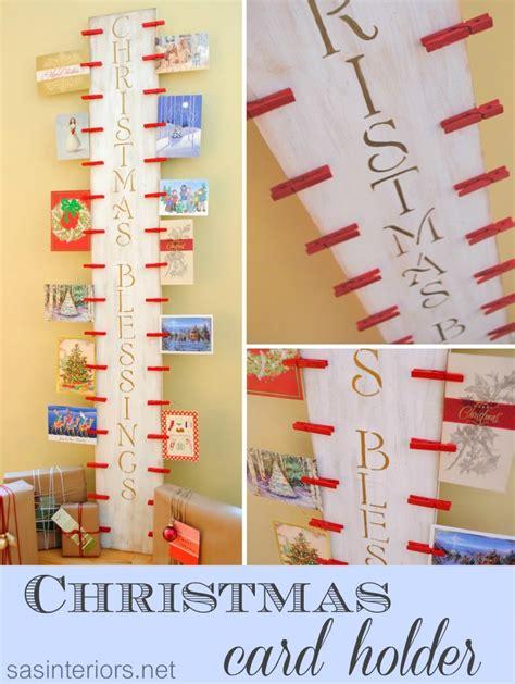 diy christmas card holder home and heart diy