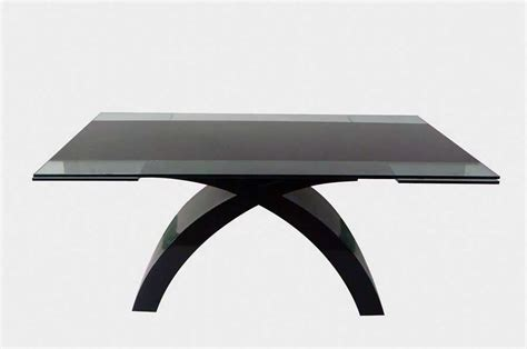 cr216 glass top dining table with extension modern dining