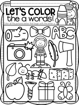 ALPHABET LETTER OF THE WEEK A by Tweet Resources | TpT