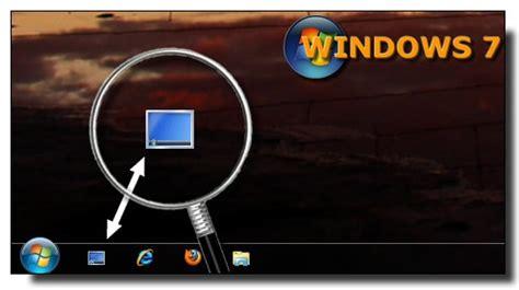 afficher bureau windows 7 ajouter le raccourci afficher le bureau dans