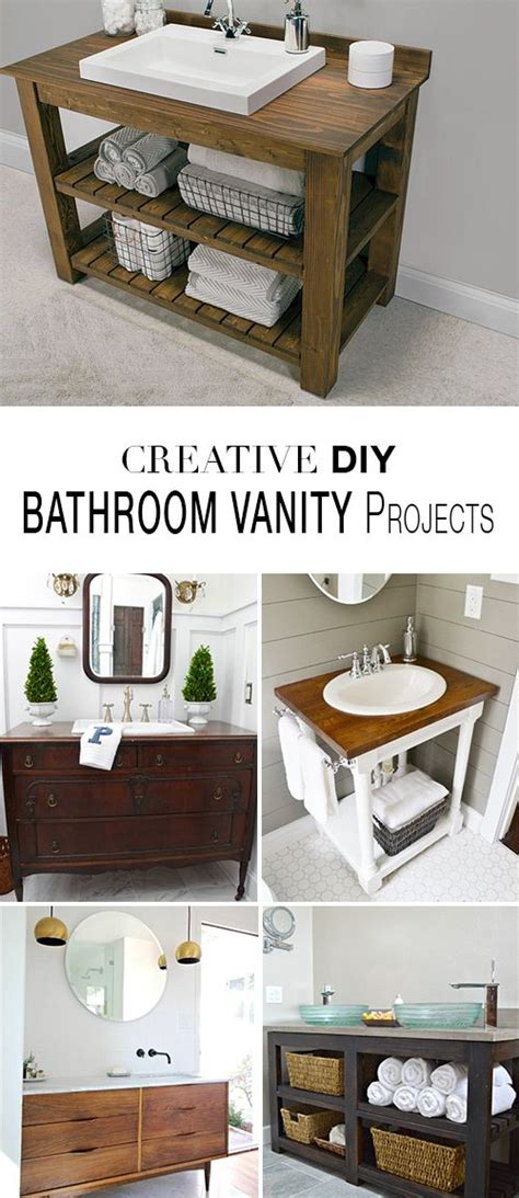 diy projects bathroom creative diy bathroom vanity projects diy bathroom