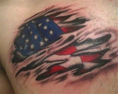 30 great american flag tattoos creativefan