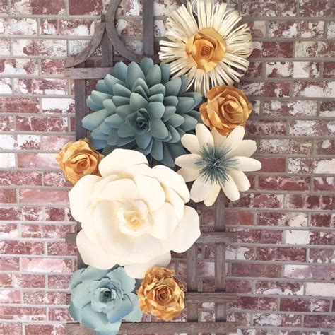 How To Make Paper Flower Wall Decorations - 25 best ideas about flower wall decor on diy