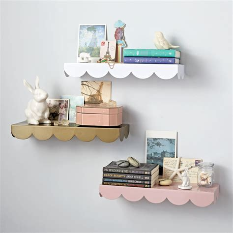 wall shelf simple scallop wall shelf the land of nod