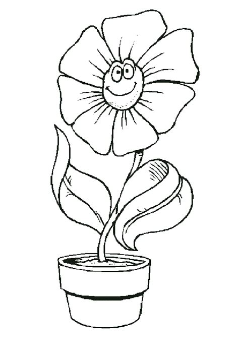 coloring page of a flower pot flower coloring part 18