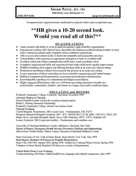 nursing resume prossle nursing and resumes