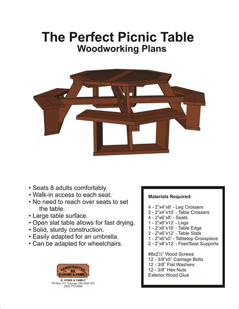 Wood Kart Plans Picnic Table Bench Combo Teds