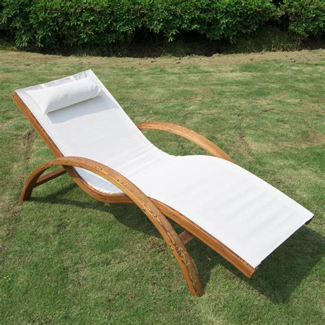 Wooden Outdoor Lounge Chairs by Wooden Patio Chaise Lounge Chair Outdoor Furniture Pool