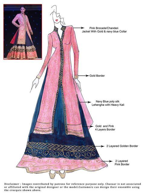 fashion illustration lehenga 303 best images about wedding dresses on