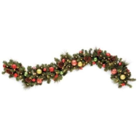 outdoor battery operated led lighted 6 christmas garland