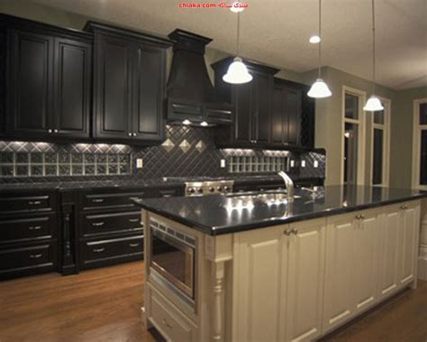 Black Kitchen Cabinets What Color On Wall ديكورات مطابخ 2013