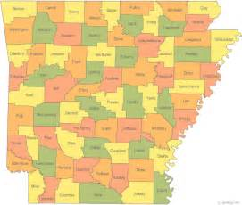 county map map of arkansas