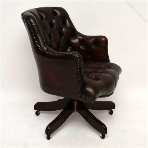 Antiques Atlas Antique Style Deep Buttoned Leather Leather Swivel Desk Chair