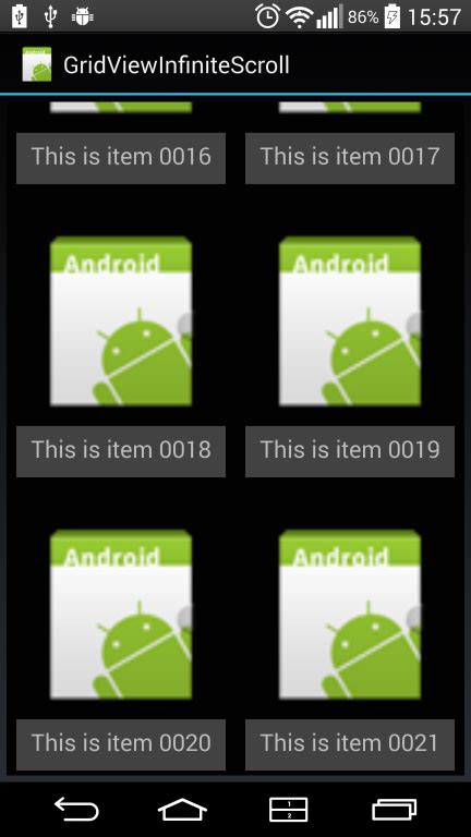 xamarin layout scrollable xamarin android build a gridview with infinite scrolling