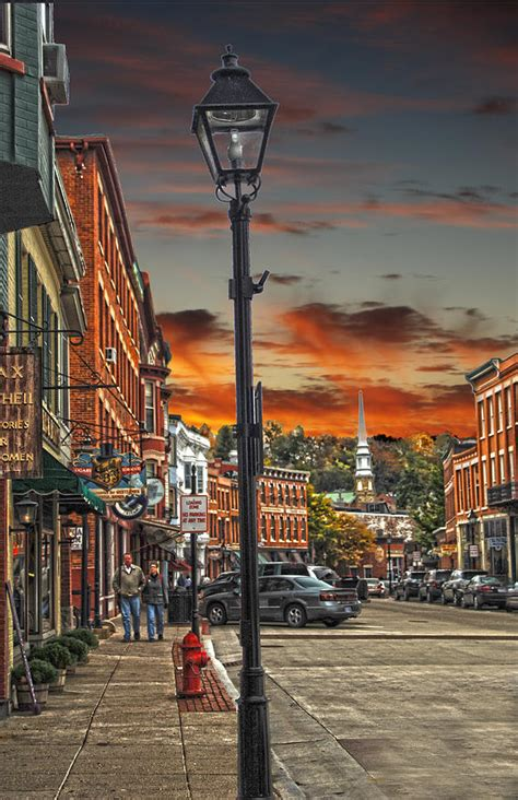 galena illinois down town shops photograph by randall branham