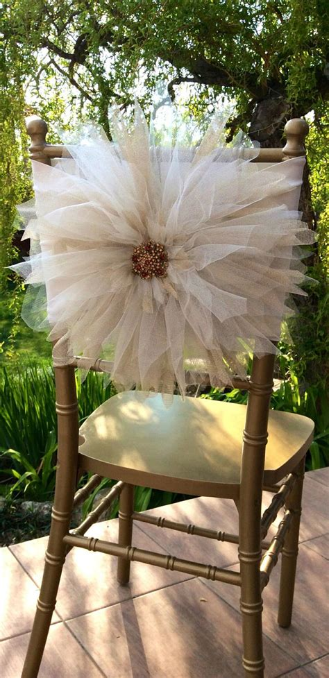 Decorating Ideas Tulle Wedding Chair D 233 Cor With Tulle Decozilla