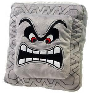 sanei mario plush cushion series thwomp