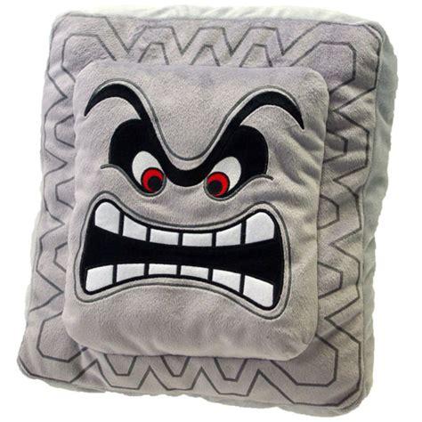 Thwomp Pillow by Sanei Mario Plush Cushion Series Thwomp