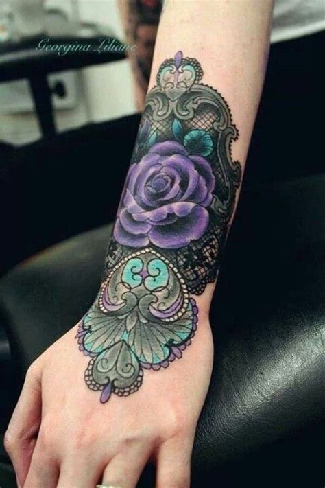rose cuff tattoo traditional lace cuff tattoos and related