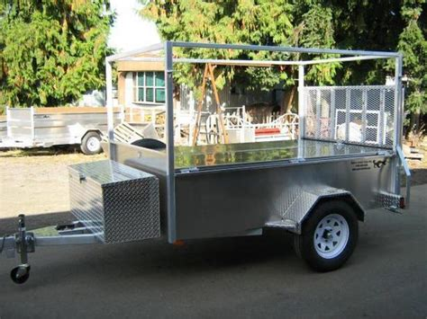 all aluminum utility trailer with boat rack and loackable