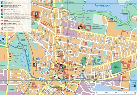 map of city of horsens city center map