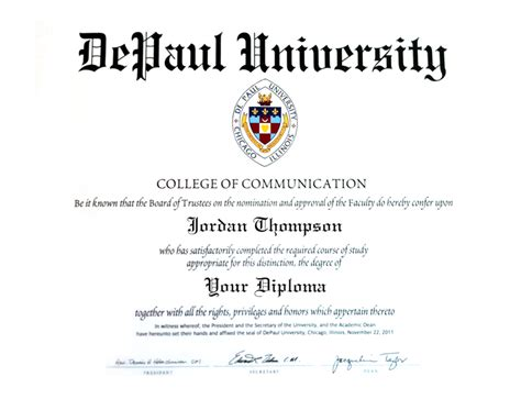 Depaul Mba Class Size by Depaul Gold Embossed Diploma Frame In Gallery