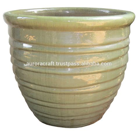 glazed ceramic pots tall outdoor large glazed ceramic planter buy large