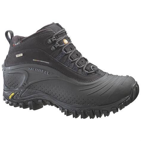 merrell winter boots mens s merrell 174 snowmotion 6 waterproof boots 159541