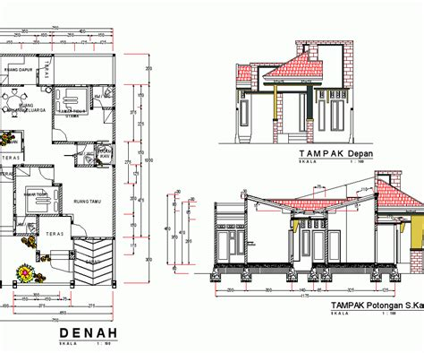 desain denah rumah minimalis type 70 140 woods