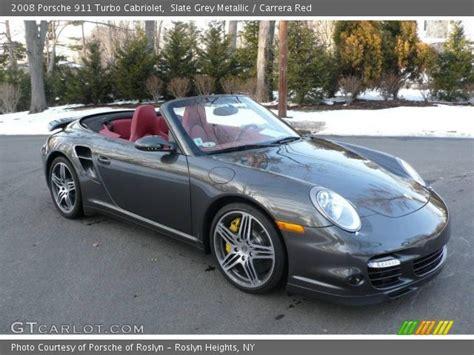 slate grey porsche slate grey metallic 2008 porsche 911 turbo cabriolet