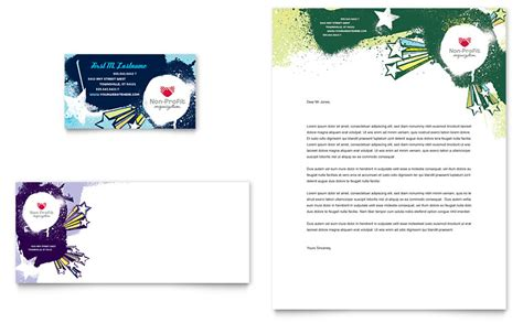 Child Advocates Business Card & Letterhead Template   Word