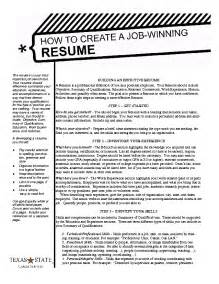 example resume a winning resume example