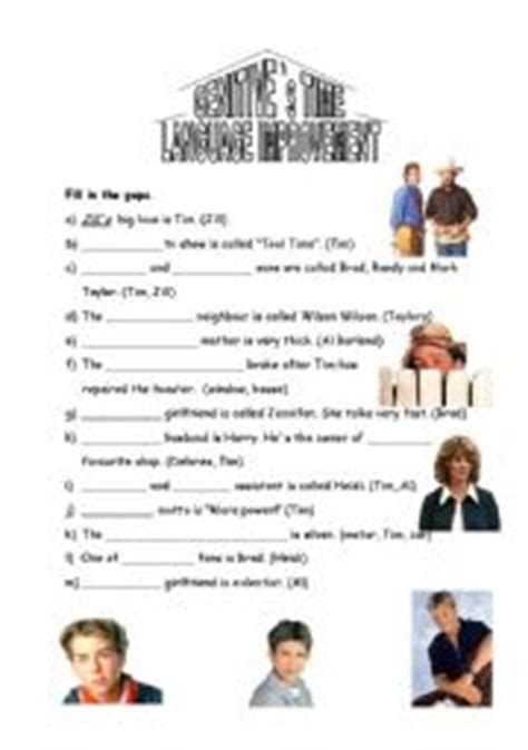 worksheets genitive s home improvement
