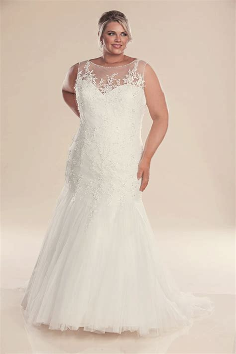 Mermaid plus size wedding dress Genevieve   wedding